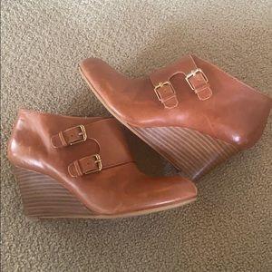 Anne Klein wedge booties